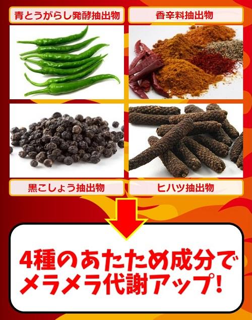 4種の温め成分が配合されている